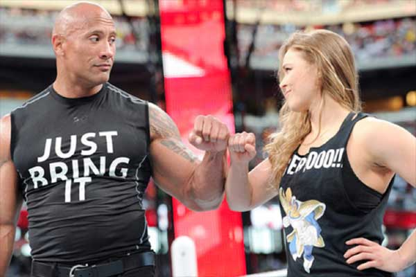 Ronda rousey amp the rock break century old record with success of