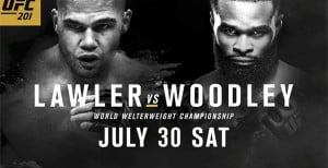 UFC 201 Results - Woodley KOs Lawler In First Round To Capture UFC Welterweight Title