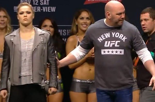 Rousey Upset To Point She Had To Be Consoled After Intense Face Off With Nunes In Nyc