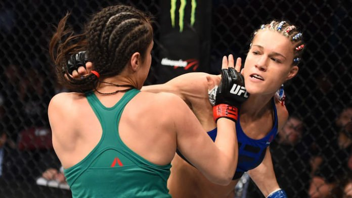 Justine Kish loses battle of the bowel inside the Octagon