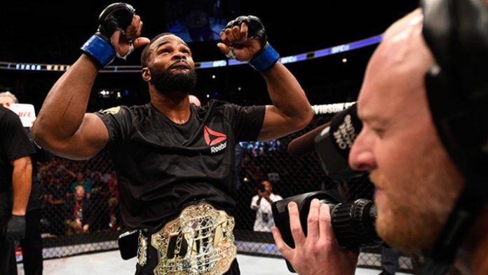 UFC welterweight champ Tyron Woodley issues a furious ultimatum to Dana White