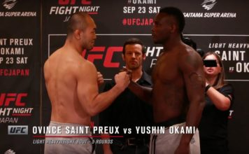 UFC Fight Night 117 Weigh-iin Faceoffs