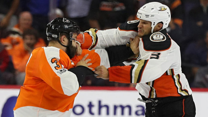 NHL Fight Ends Quickly After Superman Punch Is Thrown