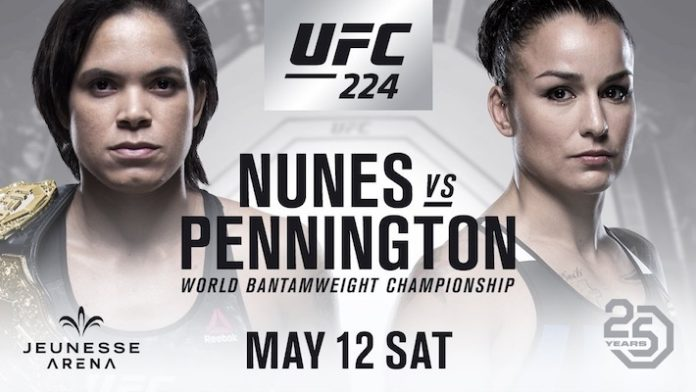 Nunes/Pennington Set for UFC 224