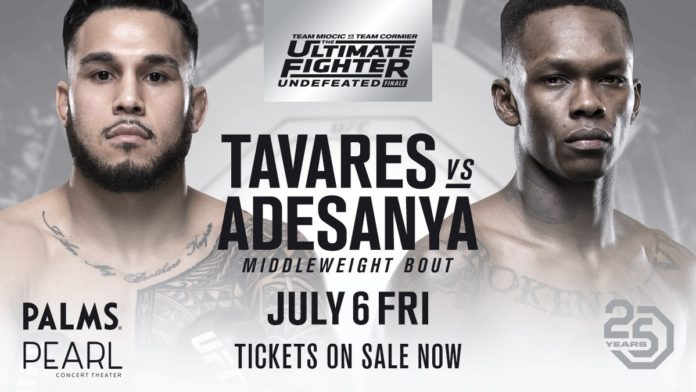 Tavares-Adesanya added to Ultimate Fighter