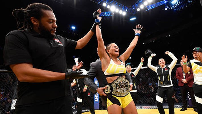 Amanda Nunes Reacts To Raquel Pennington's Corner Failing To Save Her